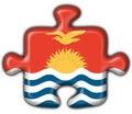 Kiribati button puzzle round Royalty Free Stock Photo