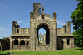Kirkstall abbey leeds uk in in summer day Royalty Free Stock Photos