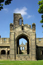 Kirkstall abbey leeds uk in in summer day Royalty Free Stock Images