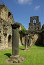 Kirkstall abbey leeds uk in in summer day Royalty Free Stock Photography