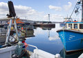Kirkwall harbour boats docked in orkney scotland Royalty Free Stock Images