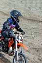 Kirovsk russia august races competitions on motorcycles on a cross country terrain in the city of augustus in Stock Photography
