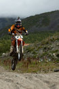Kirovsk russia august races competitions on motorcycles on a cross country terrain in the city of augustus in Stock Images