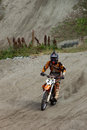 Kirovsk russia august races competitions on motorcycles on a cross country terrain in the city of augustus in Royalty Free Stock Photography