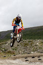 Kirovsk russia august races competitions on motorcycles on a cross country terrain in the city of augustus in Stock Photos