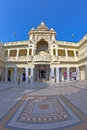 Kirti mandir in porbangar january porbandar gujarat india memorial complex at mahatma gandhis birthplace fish eye lens Royalty Free Stock Photo