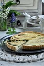 Kish with asparagus. Quiche in a cut Royalty Free Stock Photo