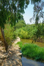 Kishon park haamakim park the stream and in northern israel Stock Images