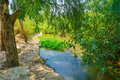 Kishon park haamakim park the stream and in northern israel Stock Photos