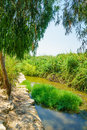 Kishon park haamakim park the stream and in northern israel Royalty Free Stock Photos