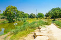 Kishon park haamakim park the stream and in northern israel Royalty Free Stock Photography