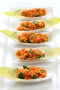 Kisir bulgur salad turkish food wheat cuisine vegetarian Stock Photography