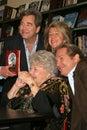 Kiss,Beau Bridges,Lucinda Bridges,Jeff Bridges,Dorothy Bridges Royalty Free Stock Photo