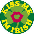Kiss me i'm Irish icon Royalty Free Stock Photos