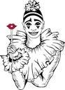 Kiss you. Pierrot.
