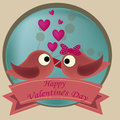 Kissing birds two beautiful each other in valentine s day Stock Photo