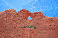 Kissing camels at garden of the gods colorado springs sandstone natural formation called park in Royalty Free Stock Photos