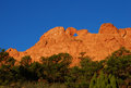 Kissing camels garden of the gods popular red rock formation limestone called in colorado Royalty Free Stock Images