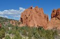 Kissing camels red rock formations in colorado springs colorado Stock Photography