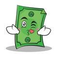 Kissing face Dollar character cartoon style