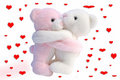Kissing Valentine bears Royalty Free Stock Image