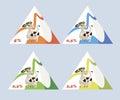 Kit packaging for milk Stock Image