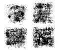 Kit of stains ink black grounge black square spots Royalty Free Stock Images
