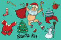 Kit undressed funny Santa and Christmas items