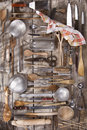 Kitchen accessories old and various for the preparation of food Stock Photo