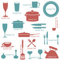 Kitchen accessory set Royalty Free Stock Image