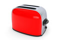 Kitchen appliance vintage red toaster on a white background Royalty Free Stock Image