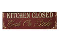 Kitchen closed signed Royalty Free Stock Photo