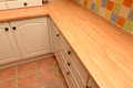 Kitchen cupboards and worktop Royalty Free Stock Photography
