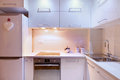 Kitchen design interior of an apartment view on part modern Royalty Free Stock Images