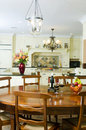 Kitchen with dining table Royalty Free Stock Photo