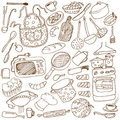 Kitchen doodles Royalty Free Stock Photo