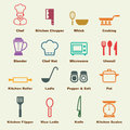 Kitchen elements vector infographic icons Stock Photography