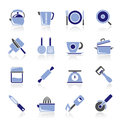 Kitchen gadgets and equipment icons vector icon set Royalty Free Stock Photography