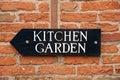 Kitchen Garden Sign Royalty Free Stock Photo
