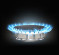 Kitchen gas burner Royalty Free Stock Images