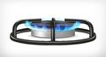 Kitchen gas stove Royalty Free Stock Photo