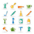 Kitchen and household tools icons Stock Photos