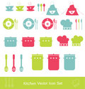Kitchen icon set Royalty Free Stock Photography