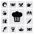 Kitchen icons Royalty Free Stock Images