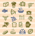 Kitchen icons Royalty Free Stock Photos