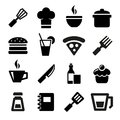 Kitchen icons food and tools set eps Royalty Free Stock Images