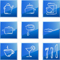 Kitchen icons set Stock Images
