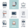 Kitchen Icons Set Royalty Free Stock Photo