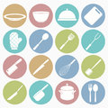 Kitchen  icons set Royalty Free Stock Photo