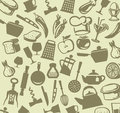 Kitchen icons vector silhouettes of accessories icon set Stock Images